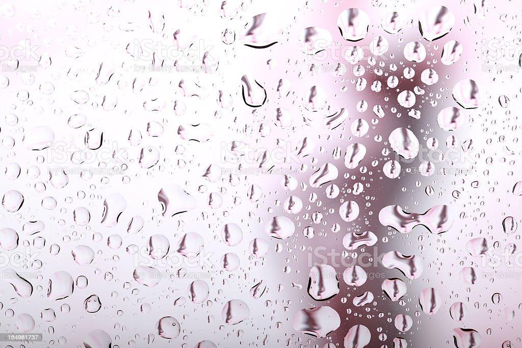Water Drops on Shower Door stock photo