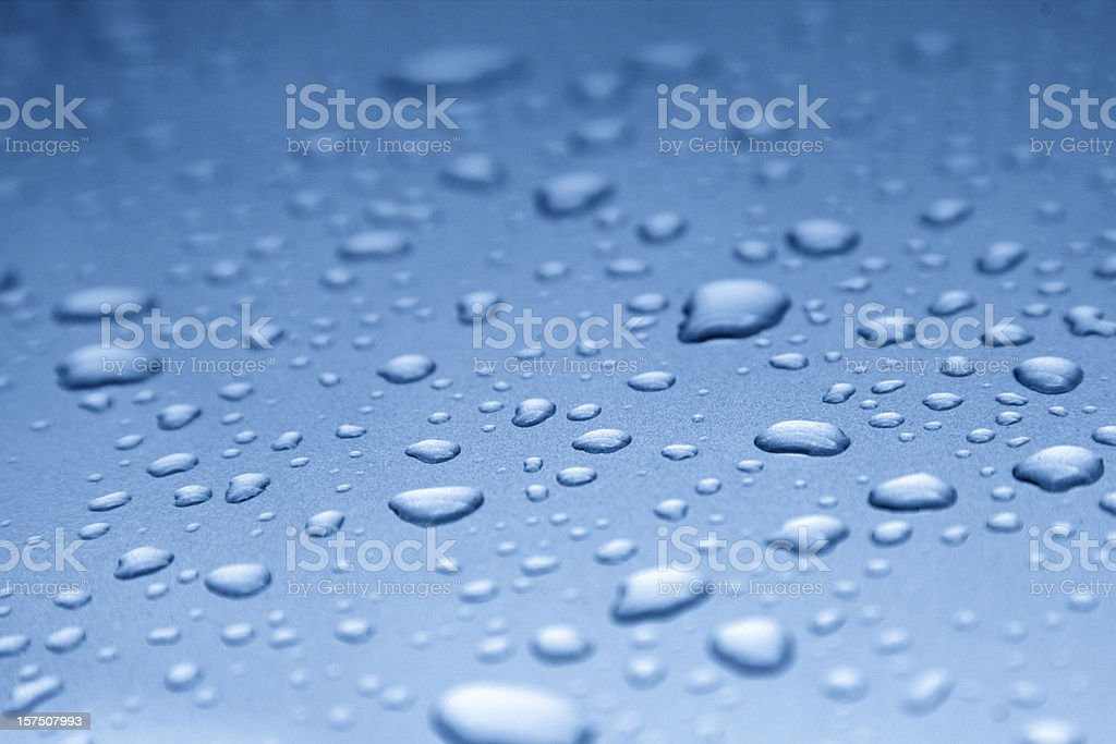 water drops on smooth surface royalty-free stock photo