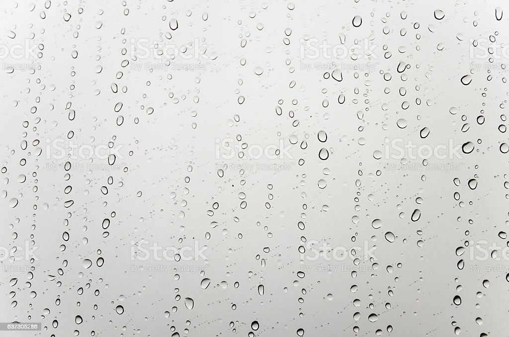 Water drops on the glass stock photo