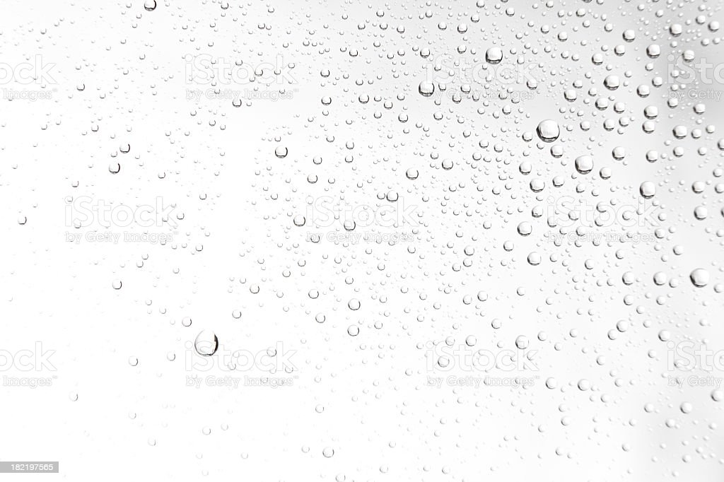water drops on white royalty-free stock photo