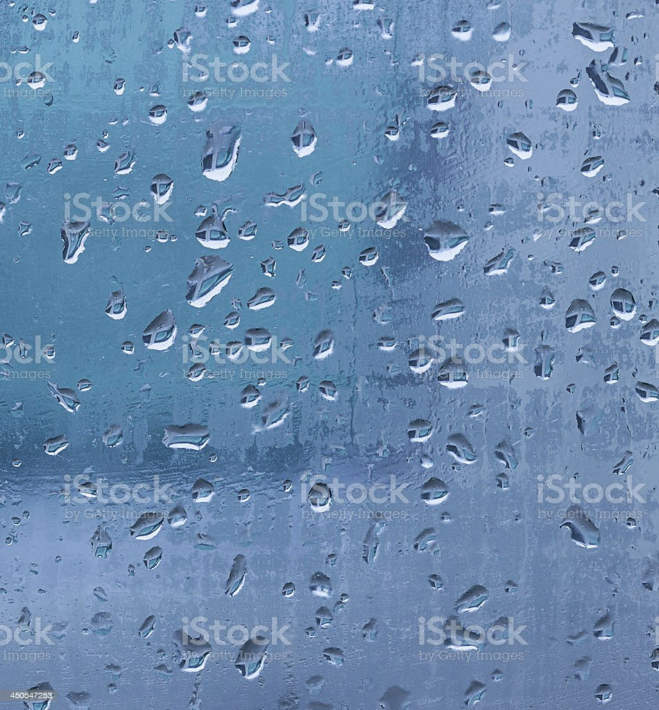 water drops on window background royalty-free stock photo