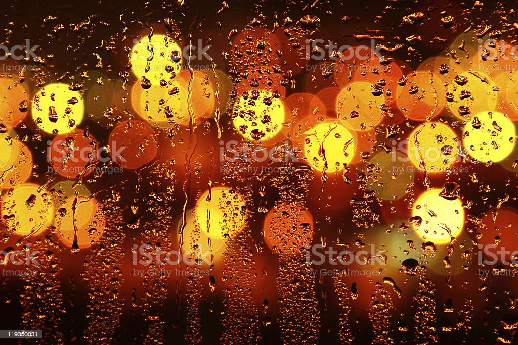 Water drops on window royalty-free stock photo