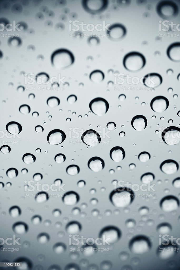 Water Drops - Toned image. royalty-free stock photo