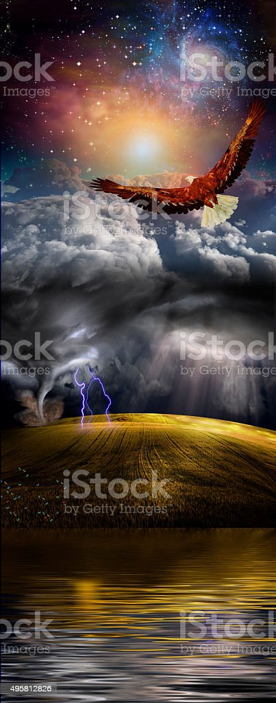 Water, Earth, Sky, Space stock photo