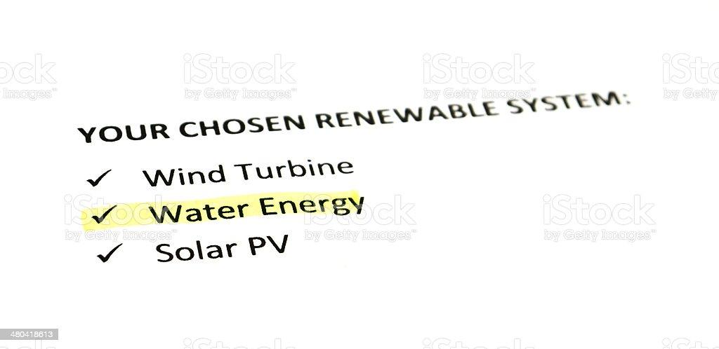 Water Energy stock photo