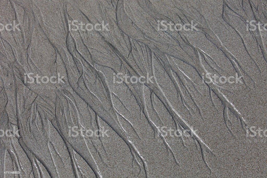 Water erosion pattern on Cosat Rican beach royalty-free stock photo