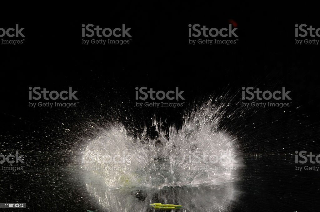 water explosion stock photo