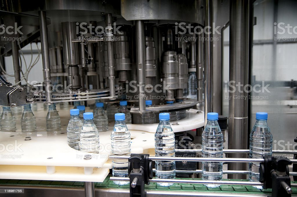 Water factory stock photo