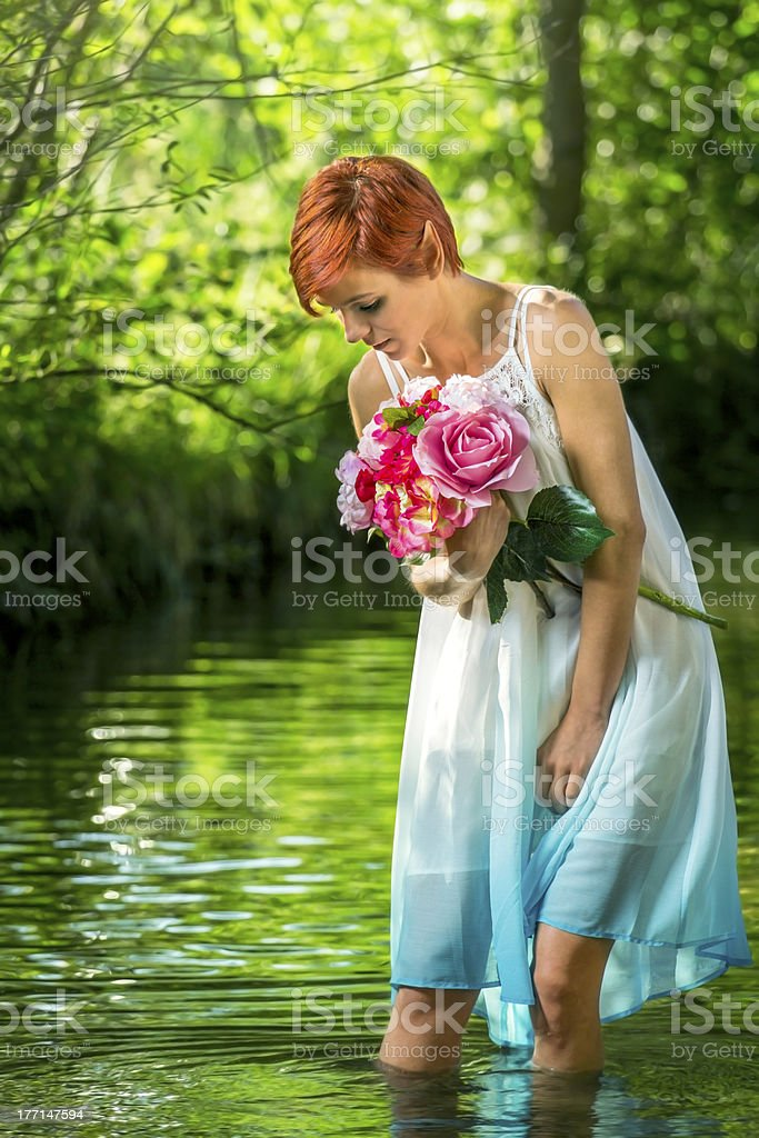 Water fairy with pointy ears royalty-free stock photo
