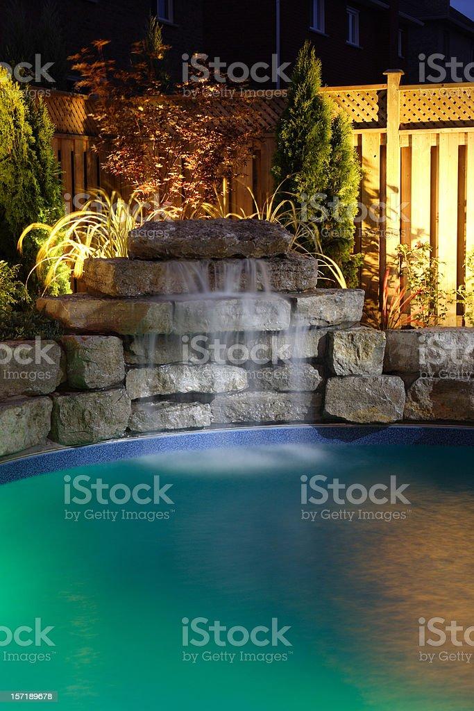Water fall at night royalty-free stock photo