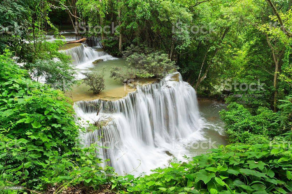 Caduta di acqua, hua mae kamin livello 4 kanchanaburi, Thailandia foto stock royalty-free