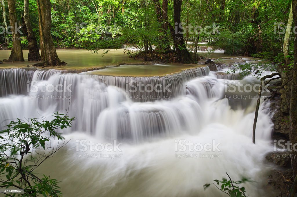 Caduta di acqua, hua mae kamin livello 6 kanchanaburi, Thailandia foto stock royalty-free