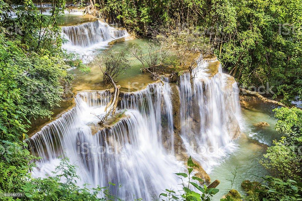Water fall, Hua Mae Kamin stock photo