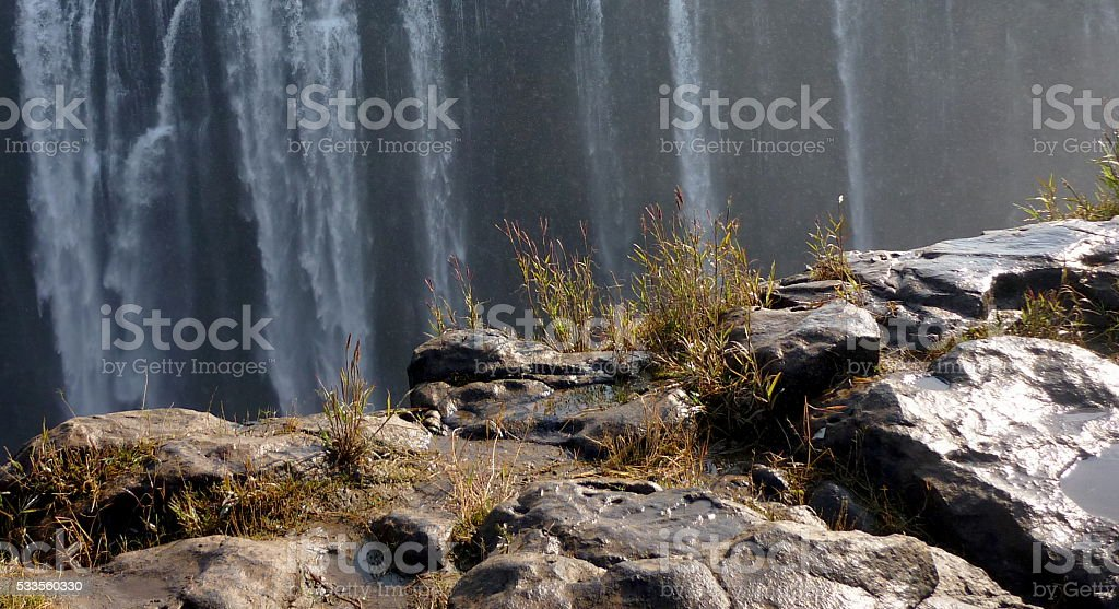 water fall in africa stock photo