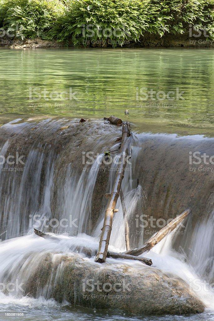 Water fall in spring season royalty-free stock photo