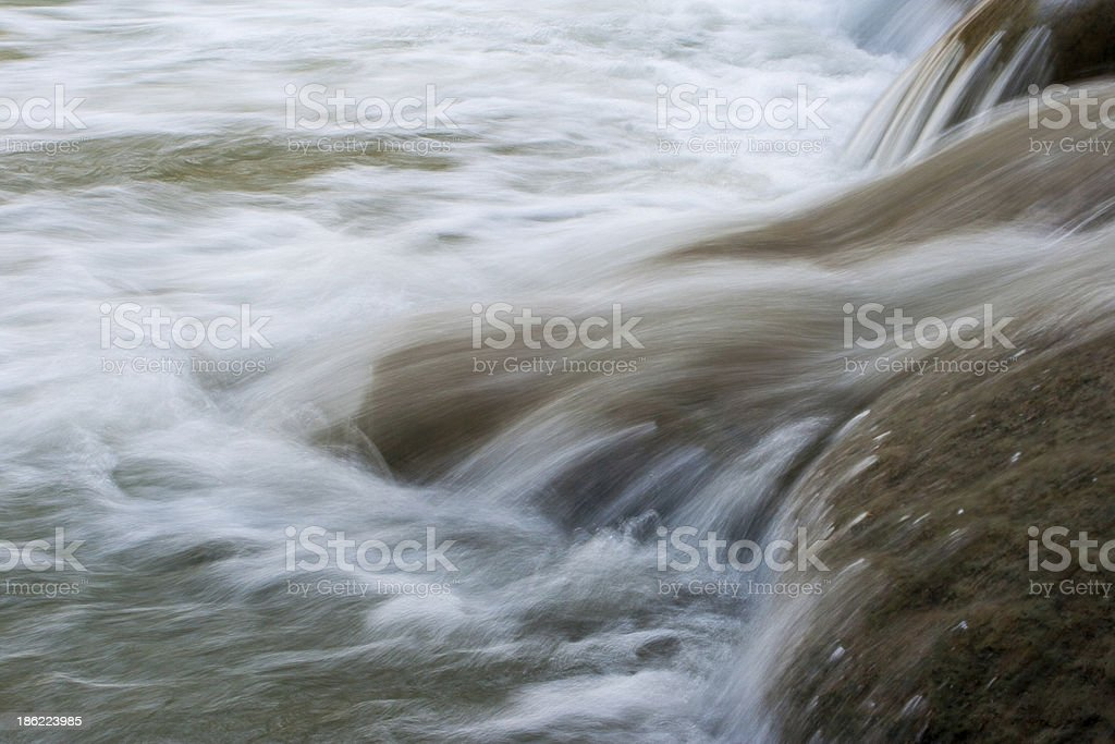 Water fall in spring season royalty-free stock photo