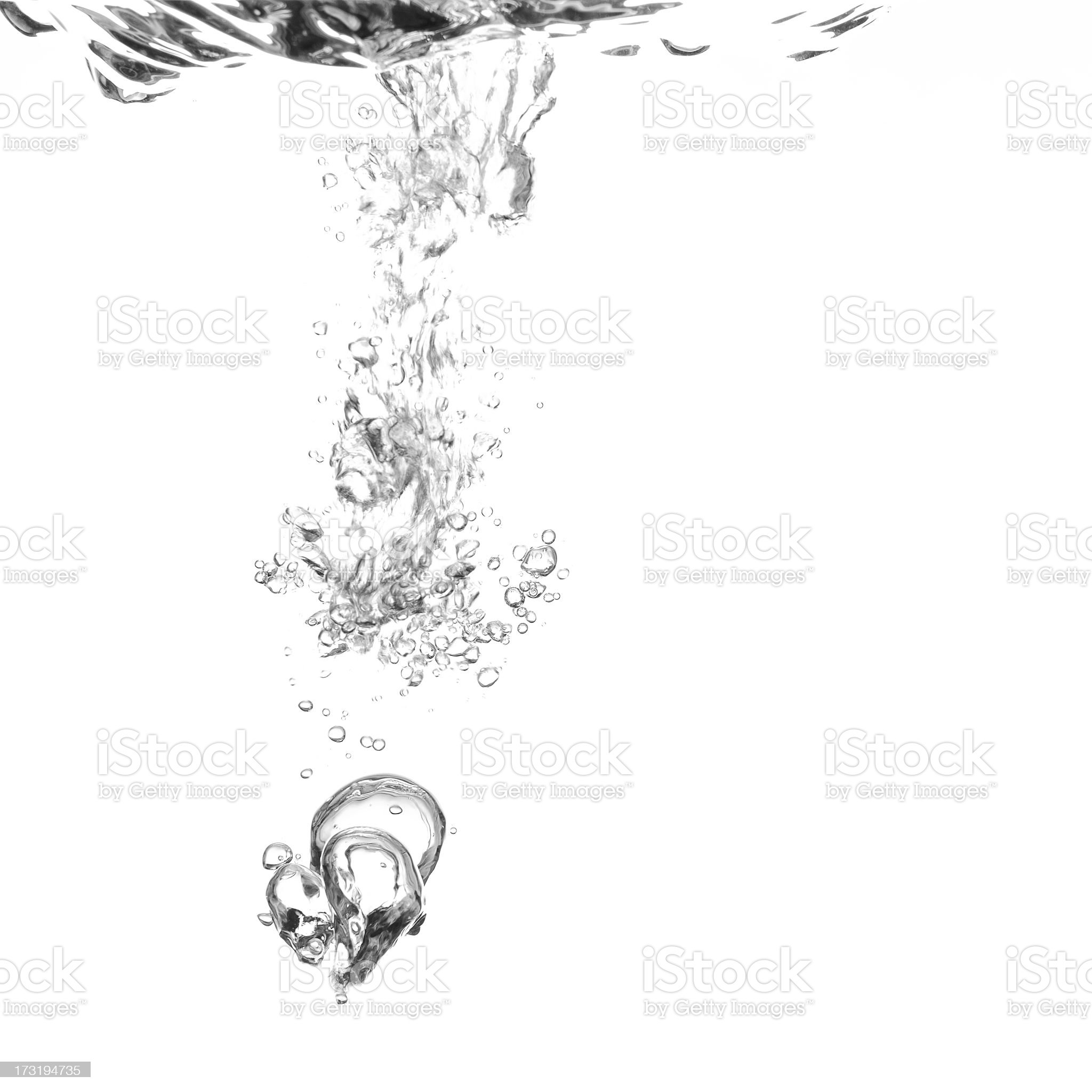 Water falling from the ceiling making bubbles royalty-free stock photo