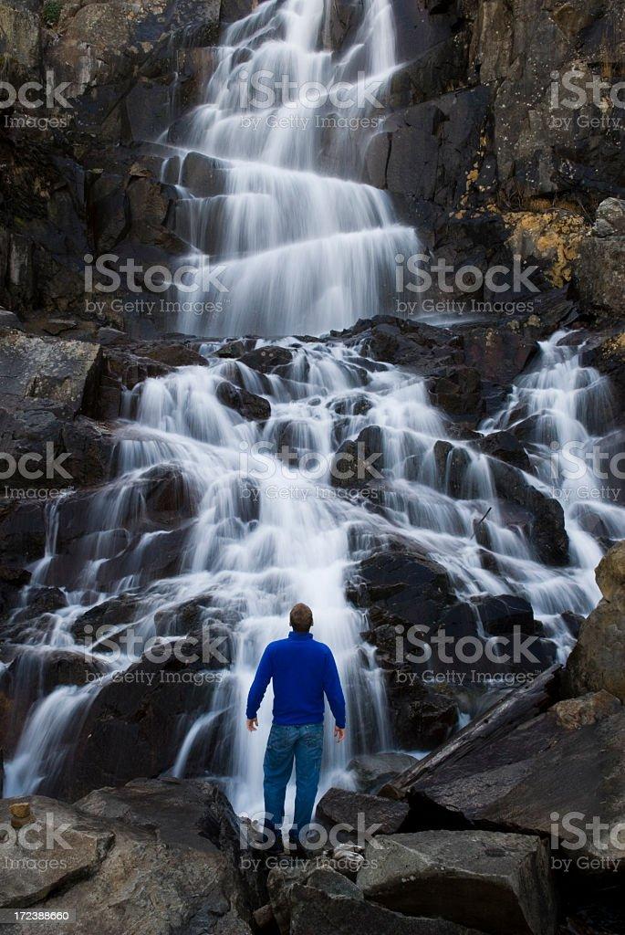 water falling royalty-free stock photo