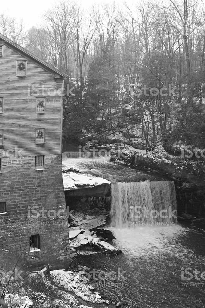 Water Falls At Lanterman's Mill - Youngstown, Ohio royalty-free stock photo