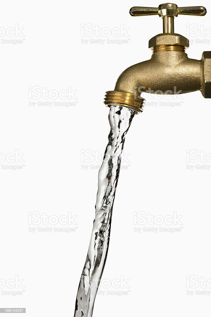 Water Faucet on white background royalty-free stock photo