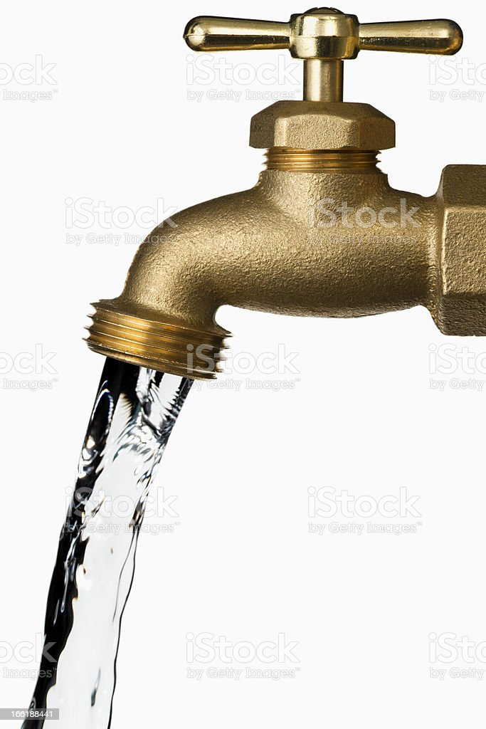 Water Faucet on white background stock photo