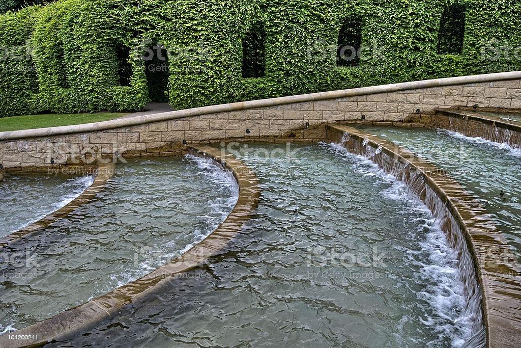 Water feature, Alnwick Gardens stock photo