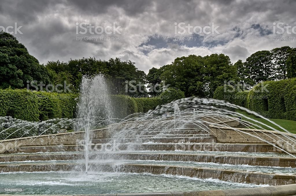 Water feature, Alnwick Gardens royalty-free stock photo