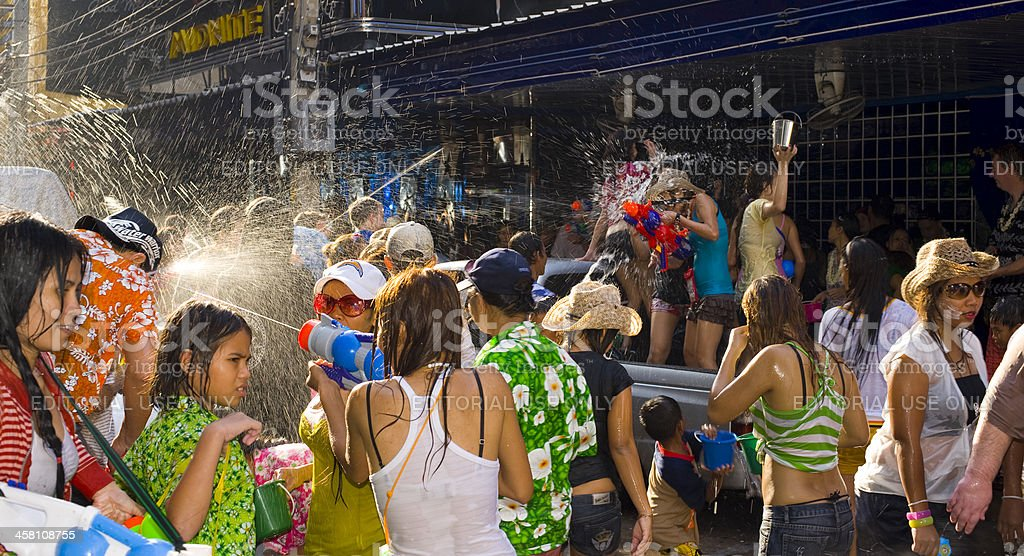 water festival in thailand royalty-free stock photo