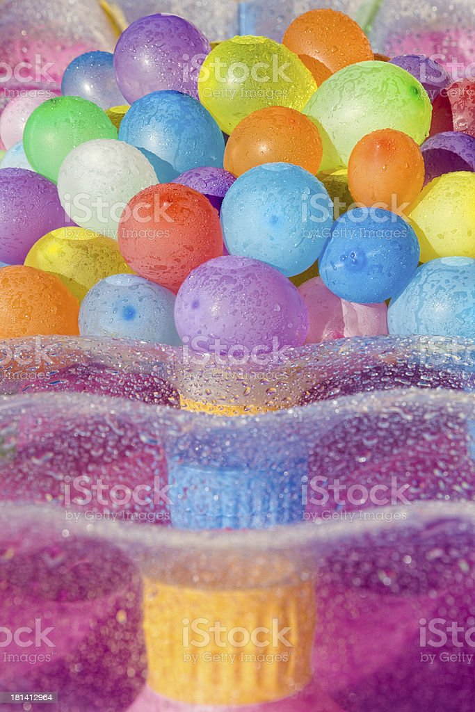 Water filled colored balloons royalty-free stock photo
