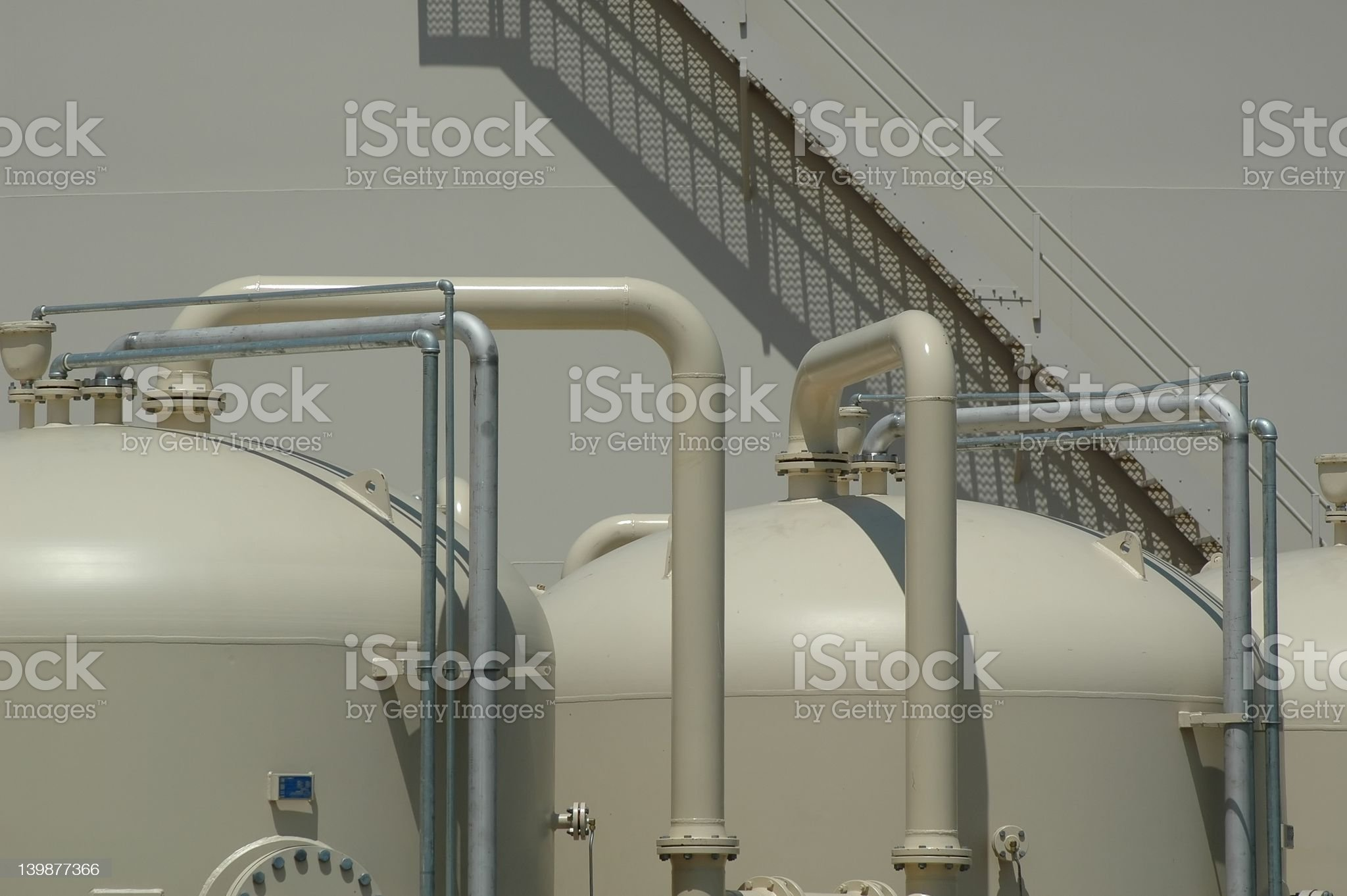 Water Filtration  Plant royalty-free stock photo