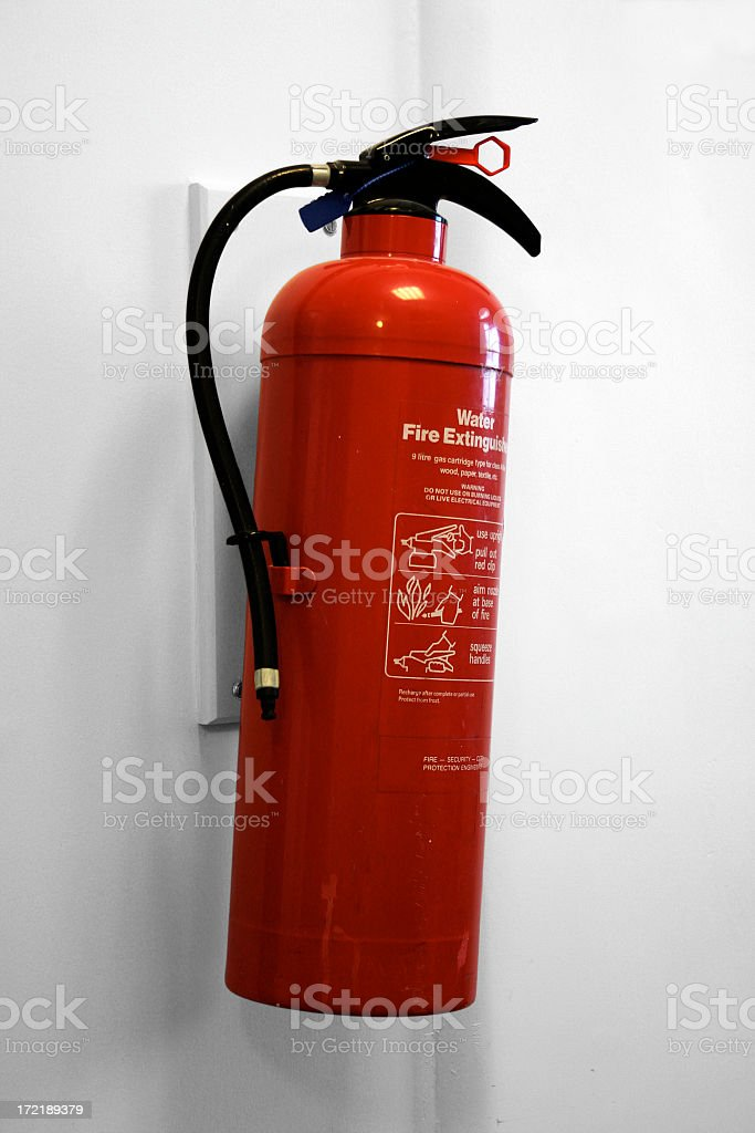 Water Fire Extinguisher royalty-free stock photo