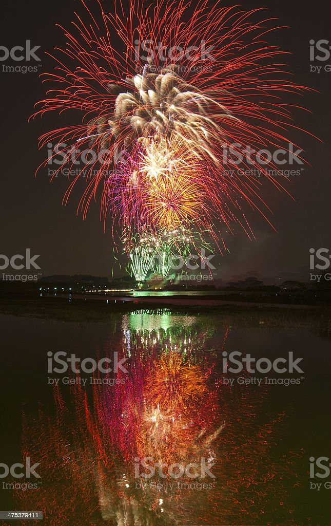 Water fireworks royalty-free stock photo