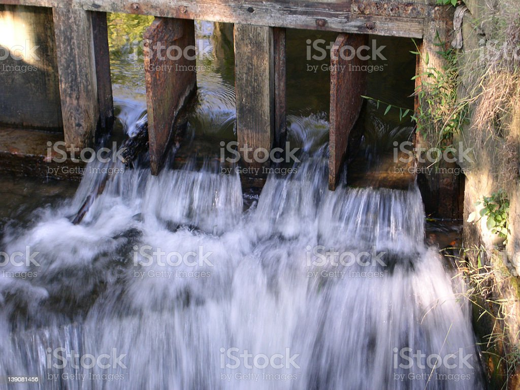Water Flowing From a Lock stock photo