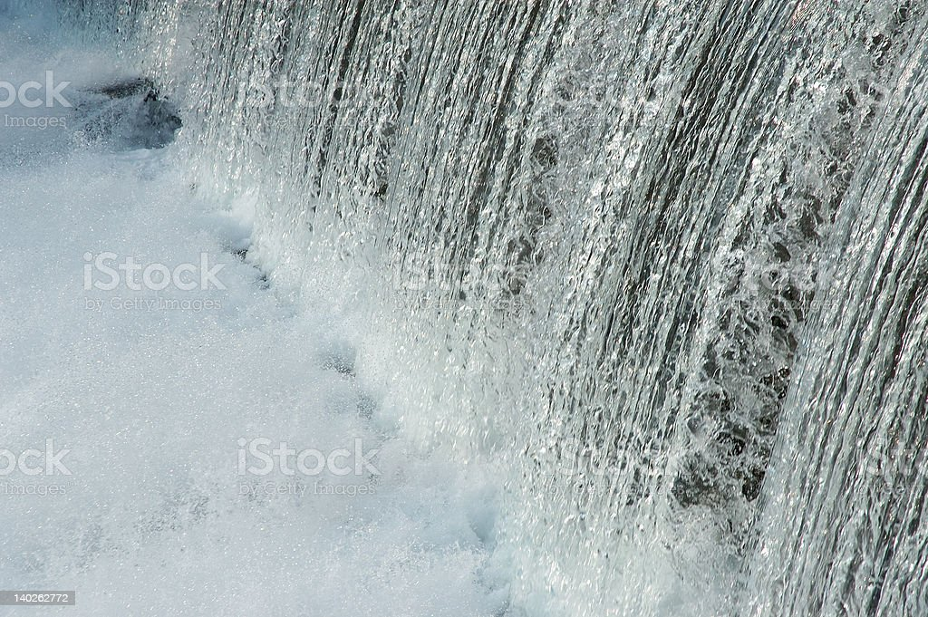 Water Flowing From Dam stock photo