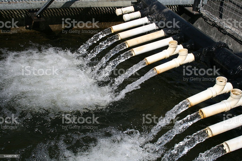 Water Flowing from Pipes royalty-free stock photo