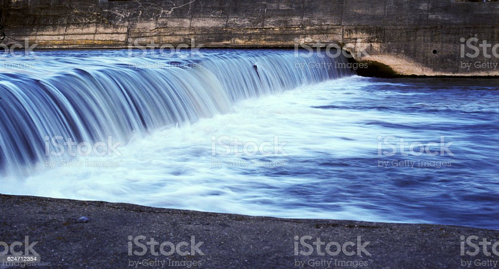 Water flowing stock photo