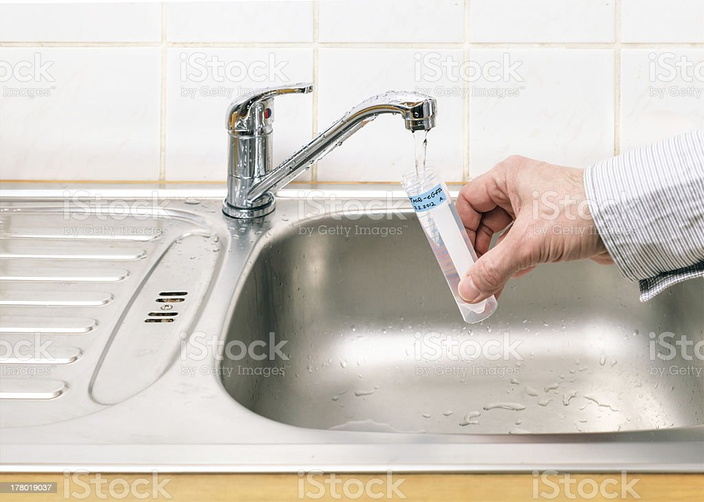 Water for analysis stock photo