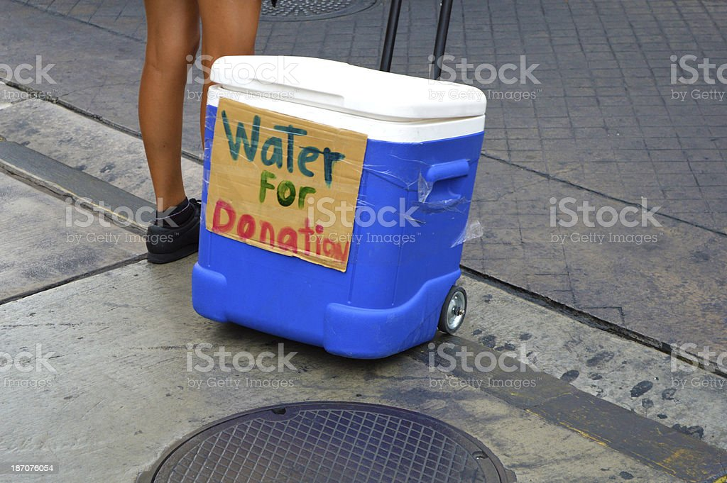 Water for Donation royalty-free stock photo