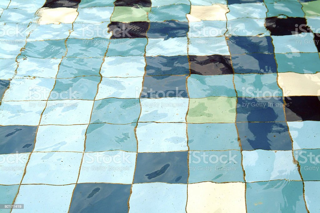 Water forms in pool royalty-free stock photo