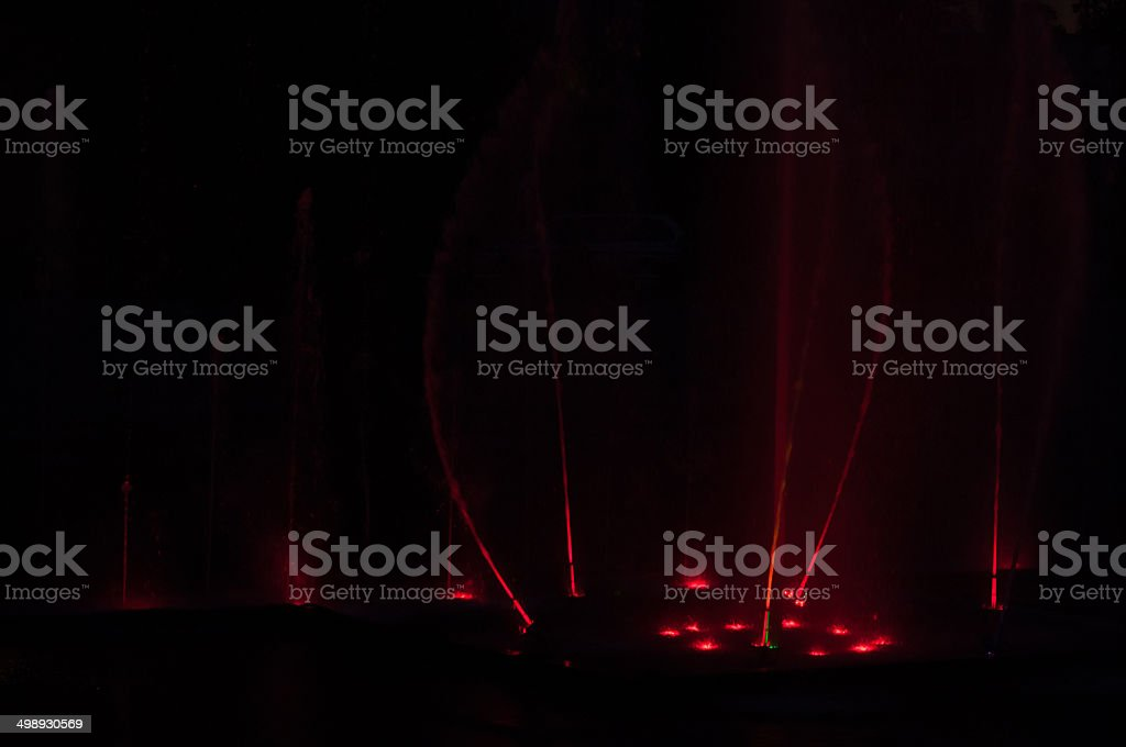 Water fountain at night royalty-free stock photo