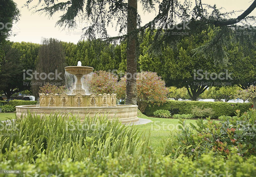 Water Fountain In Park royalty-free stock photo