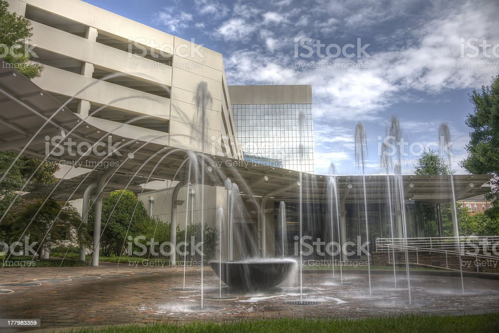 HDR Water Fountain royalty-free stock photo