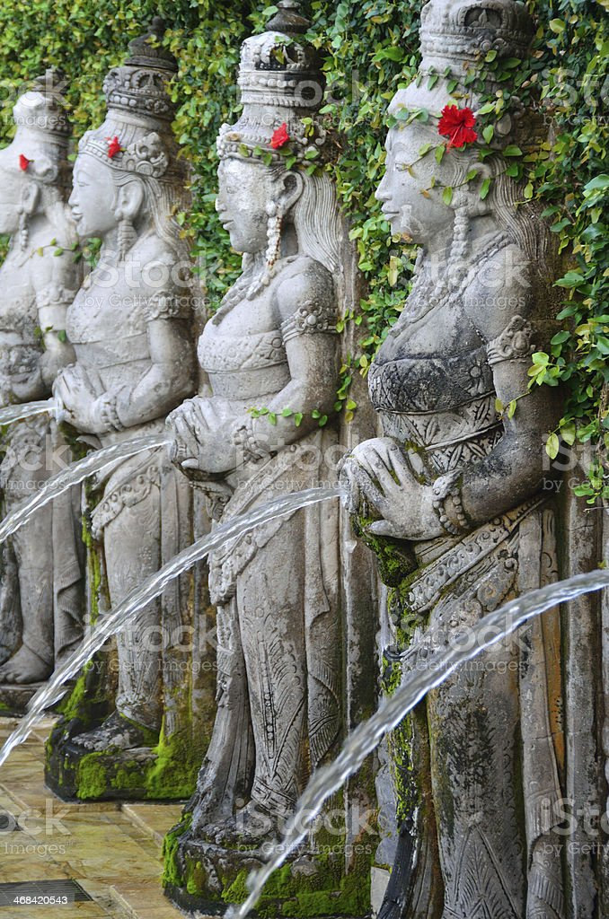 Water fountains in Bali stock photo