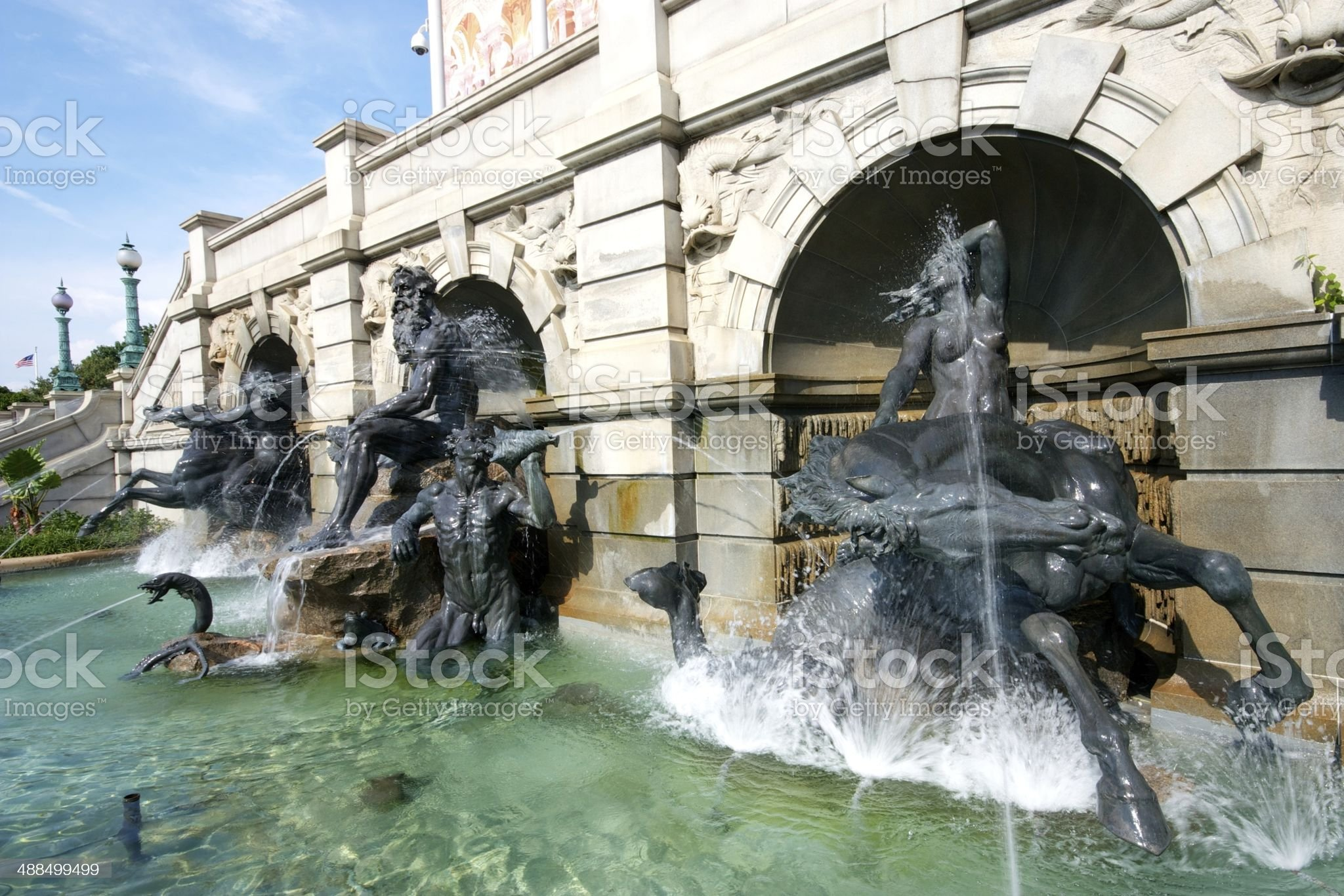 Water Fountains royalty-free stock photo