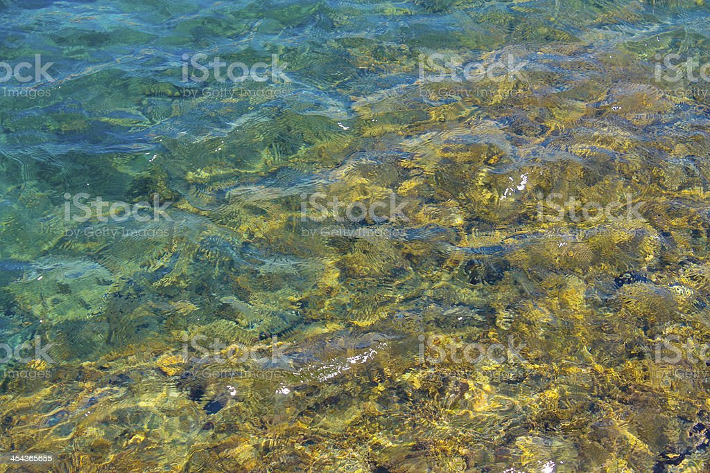 Water from the Costa Brava. Mediterranean. royalty-free stock photo