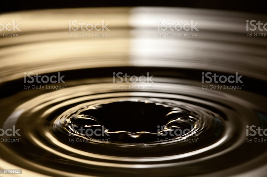 Water funnel. Abstract water object with waves and rings. Creative stock photo