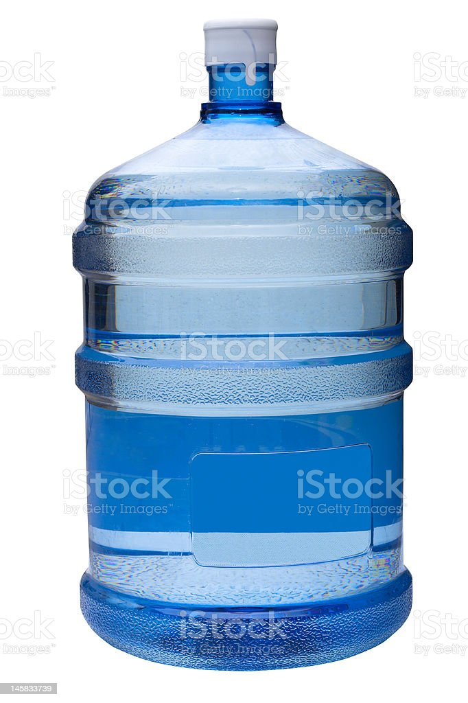 water  gallon with clipping path stock photo