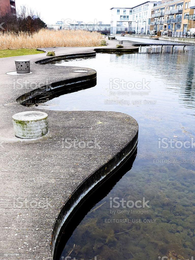 Water garden, Ankarparken Malmo stock photo