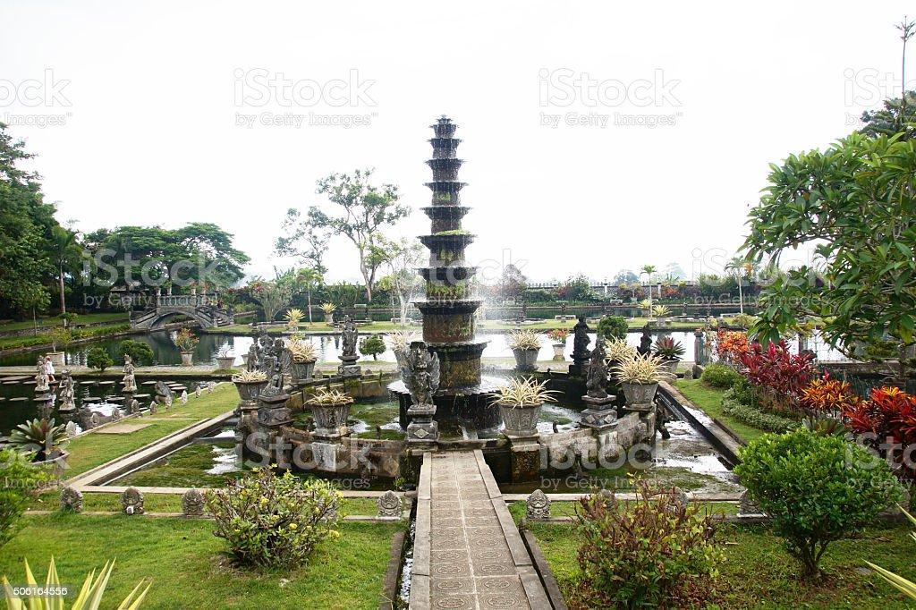Water Gardens of Tirta Gangga, Indonesia stock photo