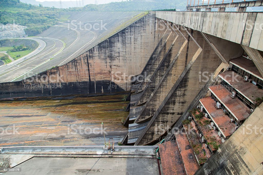 Water gate of dam stock photo